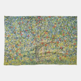 Apple Tree by Gustav Klimt, Vintage Art Nouveau Towel