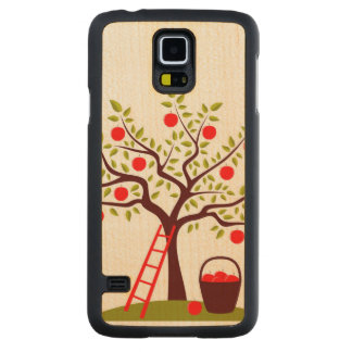Apple Tree Carved Maple Galaxy S5 Case
