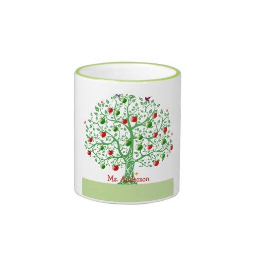 Apple Tree Custom Personalized Teacher Gift Coffee Mugs