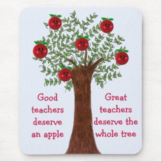 Apple Tree Great Teacher Message Mousepad