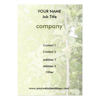Apple Tree Green Business Profile Card Pack Of Chubby Business Cards