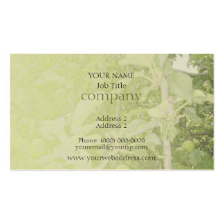 Apple Tree Green Pack Of Standard Business Cards