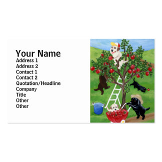 Apple Tree Labradors Business Card Template