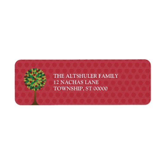 Apple Tree Rosh Hashanah Return Address Label