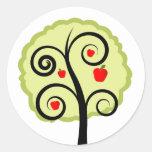 Apple Tree Round Stickers