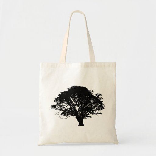 Apple Tree Silhouette Canvas Bag