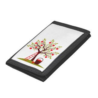 Apple Tree Trifold Wallets