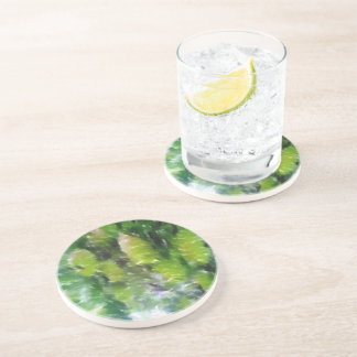 Apple tree with apples coaster