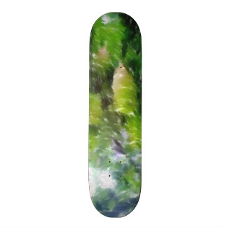 Apple tree with apples 21.6 cm old school skateboard deck