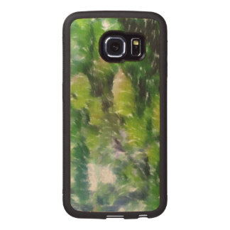 Apple tree with apples wood phone case