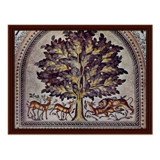 Apple Tree With Gazelles And Lions Postcard