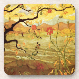 Apple Tree with Red Fruit Coaster