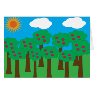 Apple Trees Greeting Cards