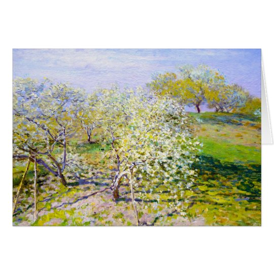 Apple Trees in Bloom, 1873 Claude Monet Card