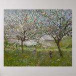 Apple Trees in Flower Poster