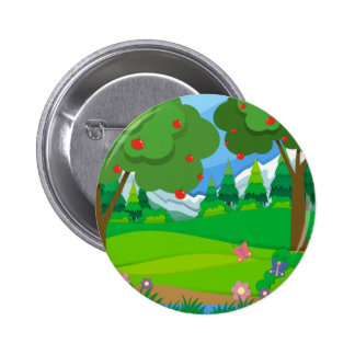 Apple trees in the orchard 6 cm round badge