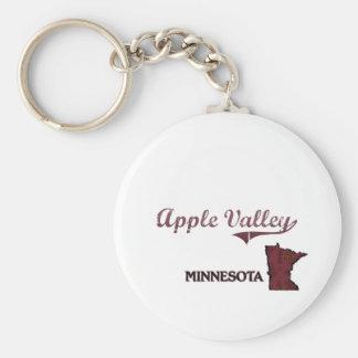 Apple Valley Minnesota City Classic Basic Round Button Key Ring