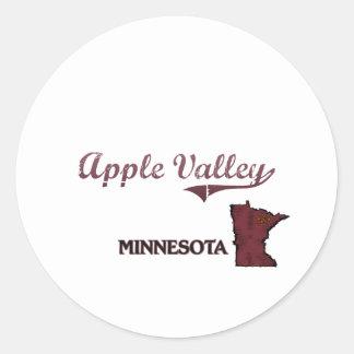 Apple Valley Minnesota City Classic Round Sticker