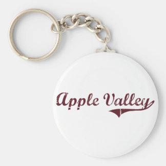Apple Valley Minnesota Classic Design Basic Round Button Key Ring