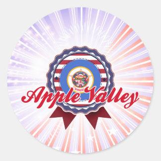 Apple Valley, MN Round Sticker
