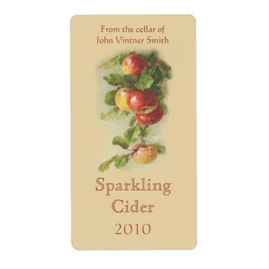 Apple wine bottle label