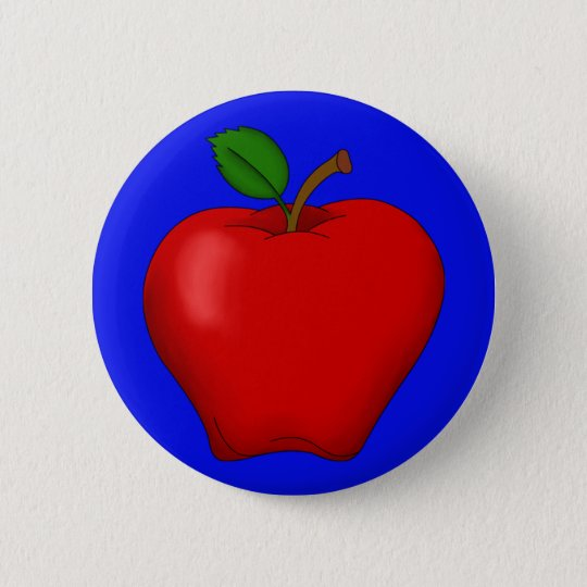 Apple with Blue Background Button