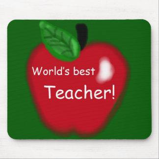 """Apple """"World's Best Teacher"""" Gift Mouse Pad"""