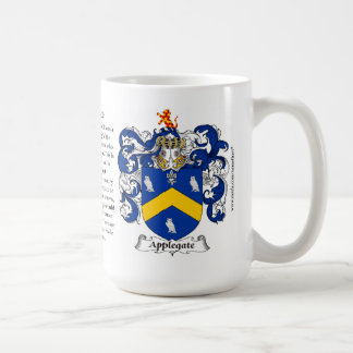 Applegate, the Origin, the Meaning and the Crest Mug