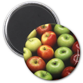 Apples 6 Cm Round Magnet