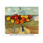 Apples And Biscuits Still Life By Paul Cezanne Postcard