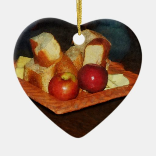 Apples and Bread Ornaments