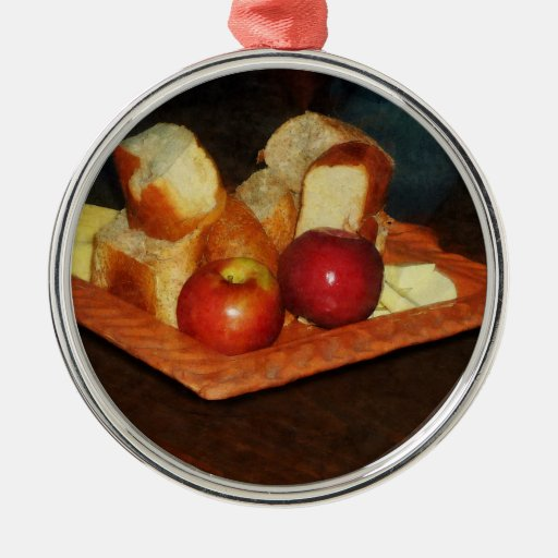 Apples and Bread Christmas Ornaments