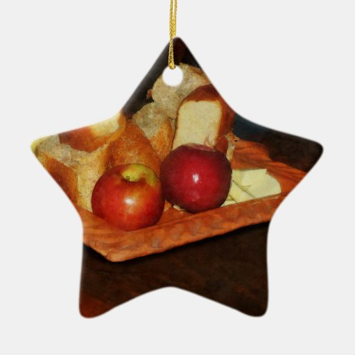 Apples and Bread Christmas Tree Ornament