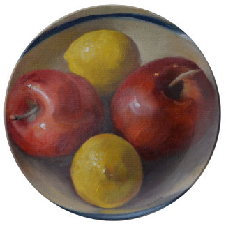 Apples and Lemons Porcelain Plates
