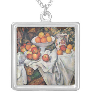 Apples and Oranges, 1895-1900 Silver Plated Necklace