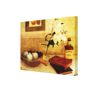 Apples and Pears in a Hallway Canvas Print