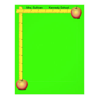 Apples and Rulers Teachers Paper (Cheery Green) Custom Flyer
