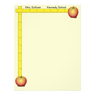 Apples and Rulers Teachers Paper (cream) 21.5 Cm X 28 Cm Flyer