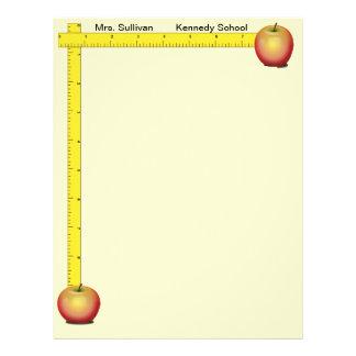 Apples and Rulers Teachers Paper (cream) 21.5 Cm X 28 Cm Flyer