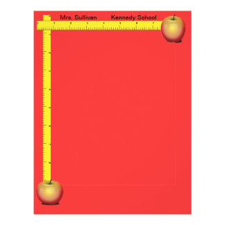 Apples and Rulers Teachers Paper (Primary Red) 21.5 Cm X 28 Cm Flyer
