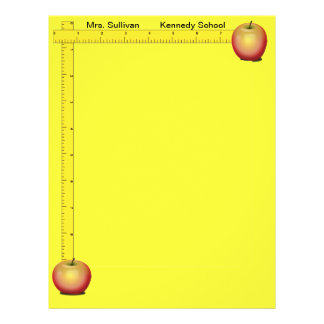 Apples and Rulers Teachers Paper (Sunshine Yellow) Flyers