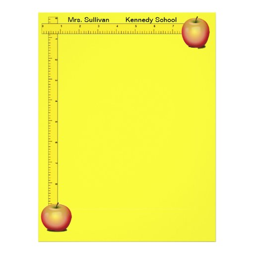 Apples and Rulers Teachers Paper (Sunshine Yellow) Full Color Flyer