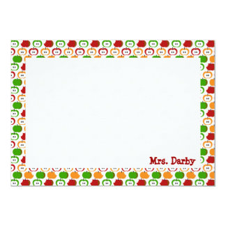 Apples! Apples! Apples! Personalized Stationery Card