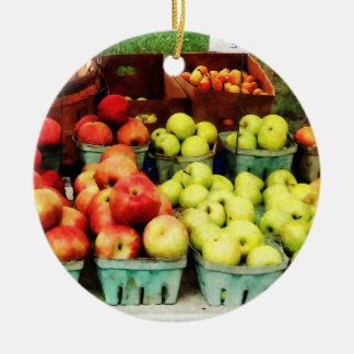 Apples at Farmer's Market Christmas Tree Ornament