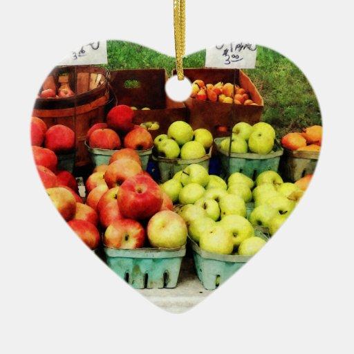 Apples at Farmer's Market Ornament