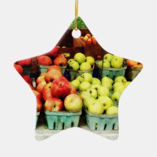 Apples at Farmer's Market Christmas Ornament