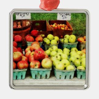 Apples at Farmer's Market Ornaments