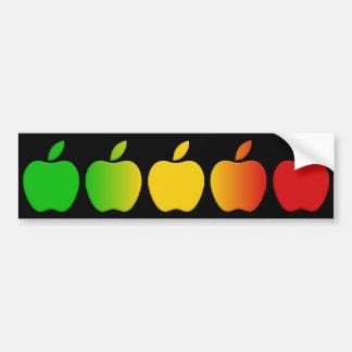 Apples bumpersticker bumper sticker