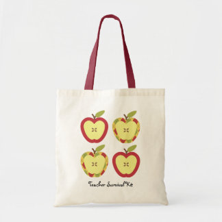Apples Customizable Text Budget Tote Bag