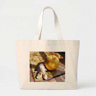 Apples Garlic Cloves Still Life Large Tote Bag